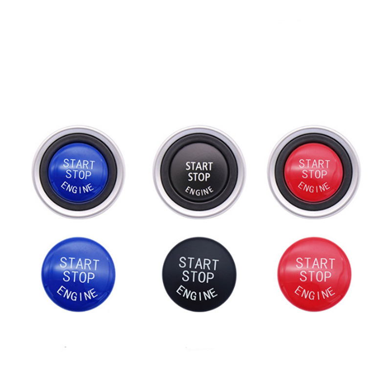Car Engine Start Button Replace Cover Stop Switch Accessories Key Ring For BMW X1 X5 E70 X6 E71 Z4 E89 3 5 Series E90 E91 E60 in Interior Mouldings from Automobiles Motorcycles