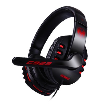 Original SOMiC G923 Stereo Sound Gaming Headphone with Microphone PC Headset computer game(Black)