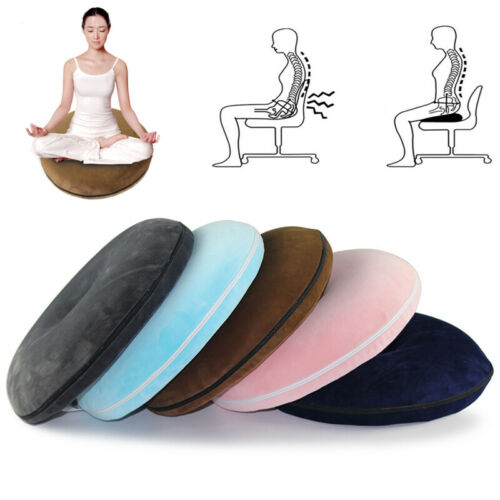 Coccyx Pain Relief Ring Chair Seat Cushion Memory Foam Comfort Donut Pillow New