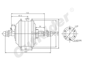 Qualitified 48VRearExpansible 7-speed Hall/ no hall Ebike/Electric Bike Hub Motor340rpmOR01B6