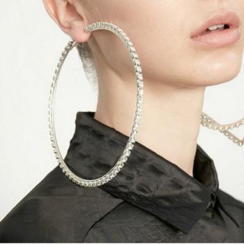 ahorrar 059a3 b9961 Pendientes de aro grandes aros de oreja para mujer plata oro 10 cm redondo  grandes pendientes de aro círculo grande pendientes Oorbellen
