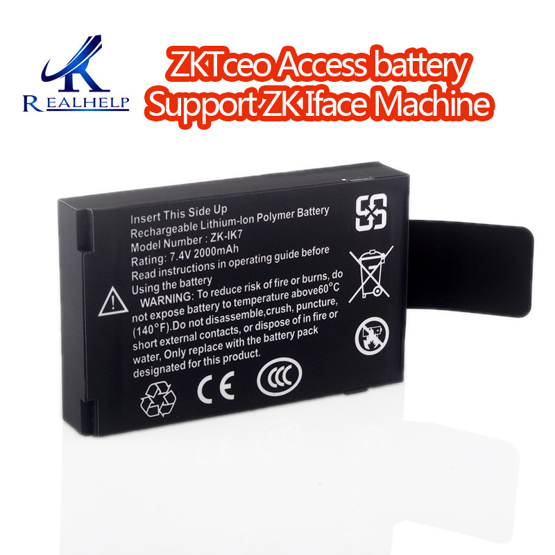 ZK IK7 Rechargeable Lithium-lon Polymer Battery 7.4v 2000mah Built-in Battery Rechargeable Battery for ZK Iface MachineZK IK7 Rechargeable Lithium-lon Polymer Battery 7.4v 2000mah Built-in Battery Rechargeable Battery for ZK Iface Machine