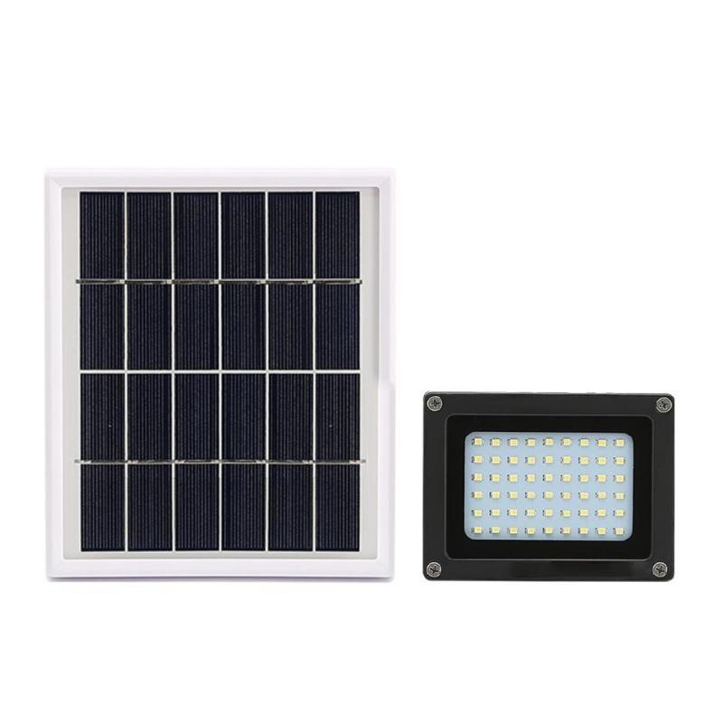 54 2835SMD LED projecteur solaire Angle d'éclairage réglable extérieur jardin mur Yard lumière contrôle lampe de sécurité
