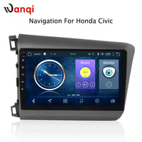 9 inch android 8.1 vehicle car dvd multimedia gps navigation system for Honda civic 2012 2015 support car steering wheel control