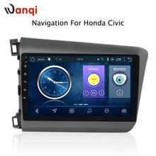 9 дюймов android 8,1 автомобильный dvd мультимедиа gps навигационная система для Honda civic 2012-2015 Поддержка рулевого колеса автомобиля управление