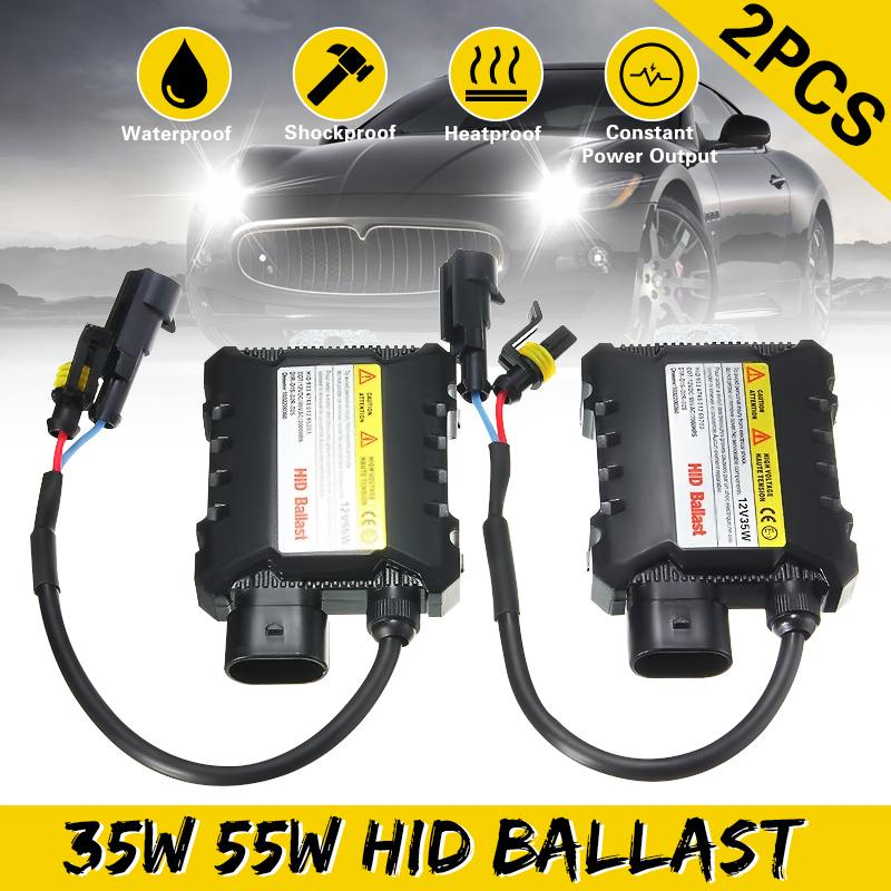 2pcs 35W/55W Hid Xenon Ballast Digital Slim Hid Ballast Ignition Electronic Ballast 12V For  H1 H3 H3C H4-1 H4-2 H7 H8 9005 9006