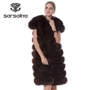 Image 5 - Real Fox Fur Vest Long Women Fur Vest Winter Female Sleeveless Natural Fur Fashion Ladies Clothes Furry Plus Size 7XL 6XL 5XL
