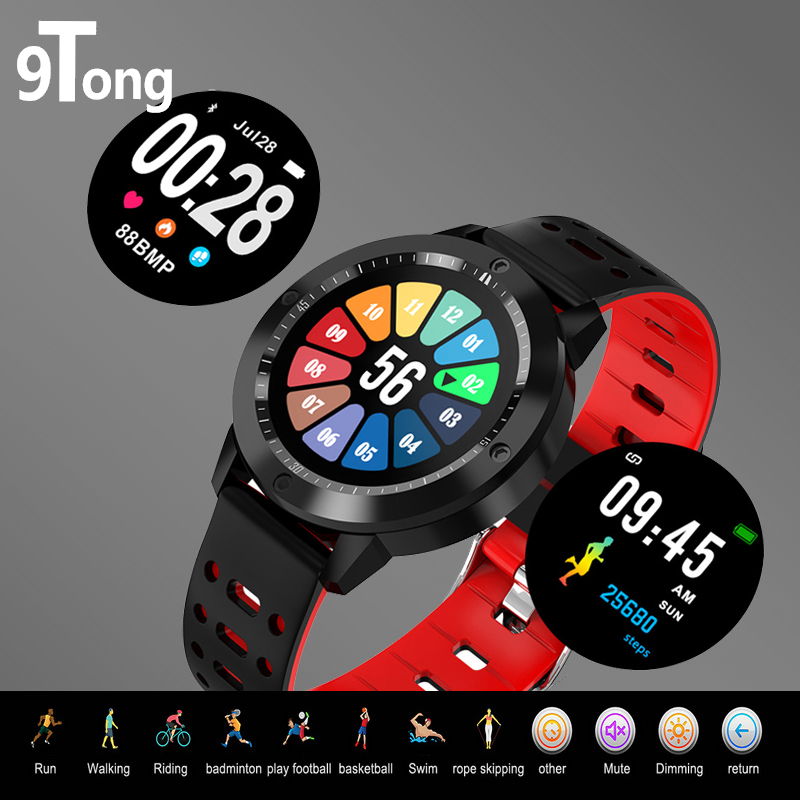 9Tong Newest Sport Smart Watch IP67 Waterproof Fitness Tracker Heart Rate Blood Pressure Monitor Smartwatch Man Alarm Clock colmi v11 smart watch ip67 waterproof tempered glass activity fitness tracker heart rate monitor brim men women smartwatch