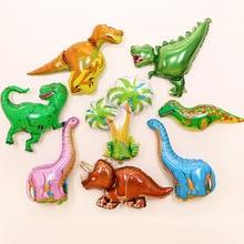 цена на Giant Green Dinosaur Foil Balloon Happy Birthday Paper Banner For Jurassic Dino World Decorations Jungle Party Supplies Boys Toy