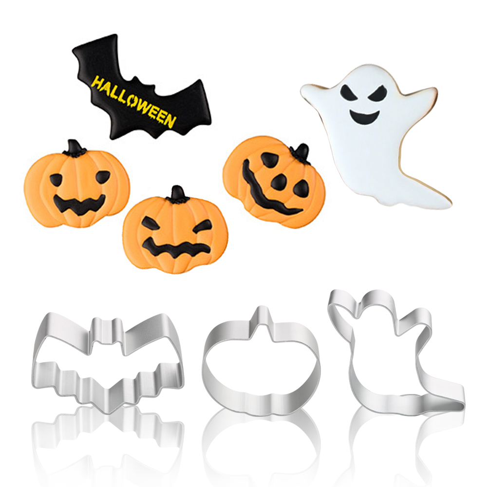 Cookie Tools Kitchen Tools Ghost Bat Pumpkin Biscuit Mold Cake Decorating Tool Halloween Gingerbread Cookie Cutter