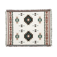 Indian Bohemian Aztec Navajo Tapestries Hippie Throw Yoga Mat Towel Bedspread