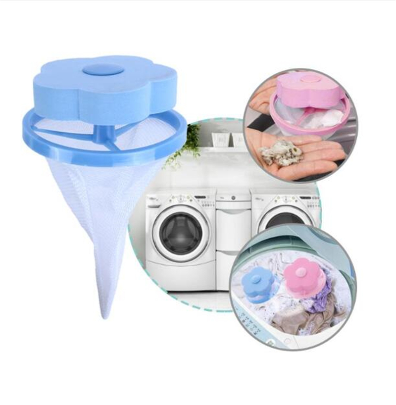 Filter Bag For Washing Machine 1Pcs Flower Wash Machine Ball Hair Lint Fluff Grabbing Remover Reusable Hair Removal Laundry Ball-in Laundry Balls & Discs from Home & Garden