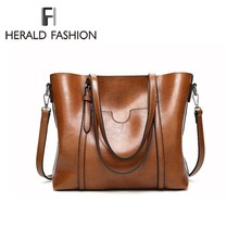 Herald Fashion Large Capacity Women Tote Bag High Quality PU Leather Female Handbags Top-Handle Bags Women Shoulder Bag bolsa все цены