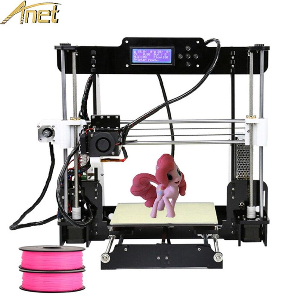 Anet A8 nivellement automatique de bureau imprimante 3d Reprap i3 3D Kit imprimante bricolage impresora 3D avec filament PLA 10 M