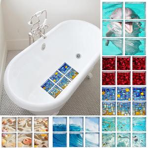 6pcs/set 3D Bathtub Stickers N