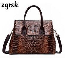 Alligator Luxury Handbags Women Crossbody Bags For Designer Vintage Leather Ladies Shoulder Bag Sac A Main Femme