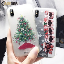 CASEIER Christmas Phone Case For Huawei P20 P9 Lite Honor 10 9 New Year Funda Shell Accessories