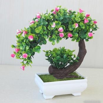 Boom In Pot Tuin.Kunstplanten Fake Leaf Thuis Kantoor Tuin Bloem Bruiloft Decor Boom Pot Home Office Tafel Gift