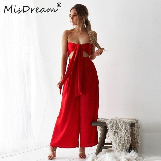 17ec28578fa MisDream Two Piece Set Top And Pants Multiway Wrap Convertible Boho Club  Red Women Set Bandage Party Bridesmaids 2 Piece Set