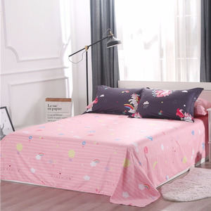 Image 3 - Cartoon Unicorn Bedding Sets Colorful Rainbow and Cloud Pattern Duvet Cover Set Striped Bed Sheet Pillowcases