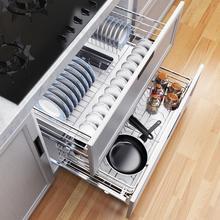 Storage Corredera Organizador Armario Organizer Stainless Steel Cuisine Cocina Kitchen Cabinet Cestas Para Organizar Basket