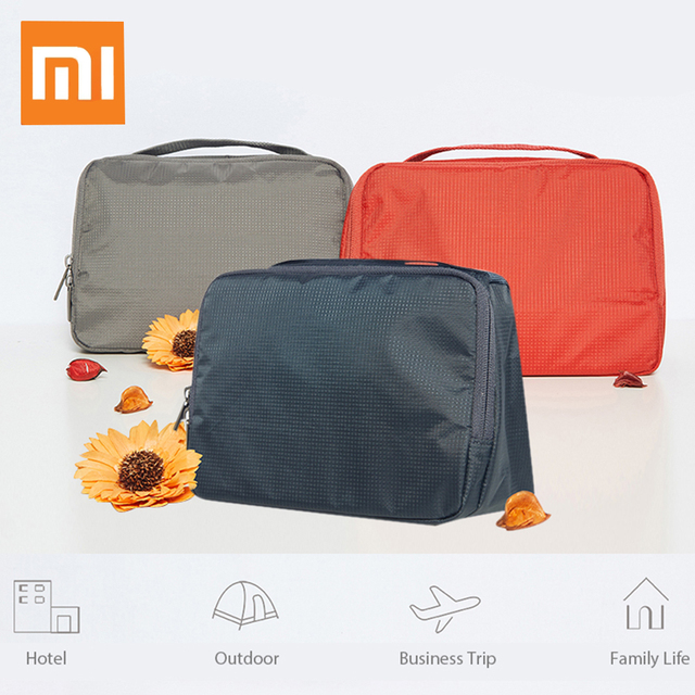 Original Xiaomi Portable Travel Toiletry Bag Water-resistant Large Capacity  Outdoor Storage Wash Pouch fb6f3191f345b