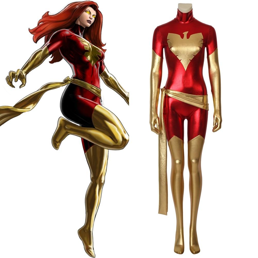 X-Men Dark Phoenix Jean Grey Cosplay Costume Womens Halloween Outfit