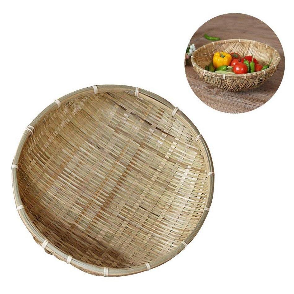 Natural Wicker Fruit /& Veg Basket/_Handmade
