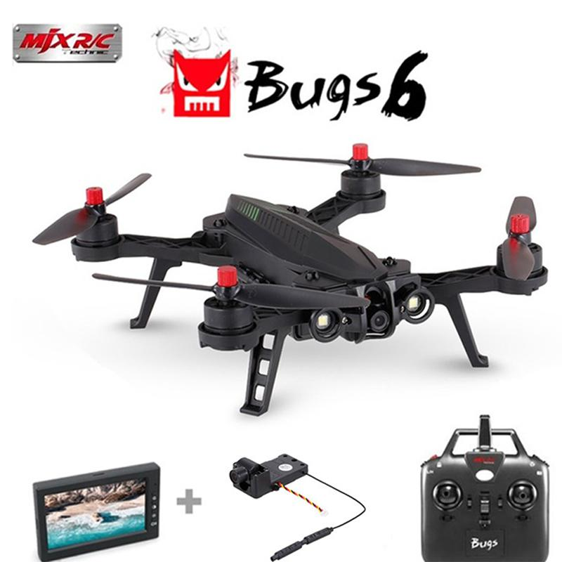 MJX Bugs 6 B6 Professional Racing RC Drone HD 720P FPV Live Video Quadcopter Remove Control Toys Children Adult Plane GiftMJX Bugs 6 B6 Professional Racing RC Drone HD 720P FPV Live Video Quadcopter Remove Control Toys Children Adult Plane Gift