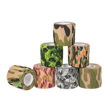 1 Roll Reusable Outdoor Cycling Wrap Elastic Stealth Tape Waterproof Wrap Durable Tape Camouflage 5CMx4.5M(China)