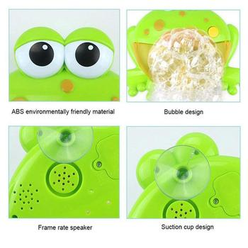 Popular Cute Green Bubble Crab Music Foaming Machine Baby Children Bathroom Beach Play Water Bathing Hanging Toys 1
