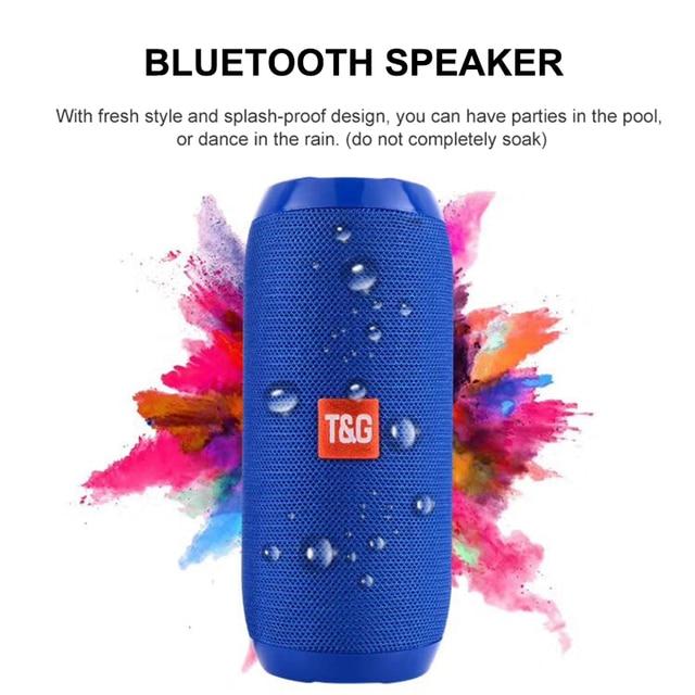 TG Bluetooth Speaker Portable Outdoor Sport Loudspeaker Wireless Mini Column Music Player Support TF Card FM Radio Aux Input