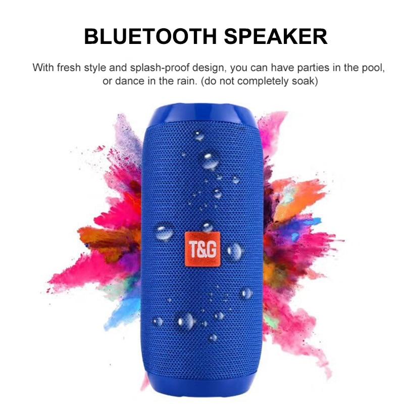 TG New Bluetooth Bass Speaker Portable Outdoor Sport Loudspeaker Wireless Mini Column Music Player Support TF Card Hi-Fi Boxes
