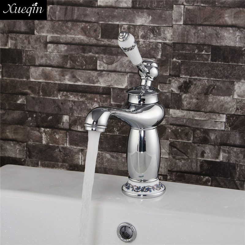 Xueqin Upscale Retro European Bathroom Basin Faucets Mixer Tap Washbasin Tap For Household And HotelXueqin Upscale Retro European Bathroom Basin Faucets Mixer Tap Washbasin Tap For Household And Hotel