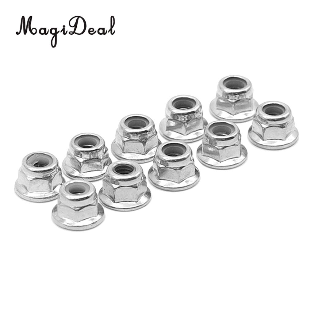 8pcs Silver Alum M4 Lock <font><b>Wheel</b></font> Nut Fit <font><b>WLtoys</b></font> <font><b>12428</b></font> 12423 RC Car parts image