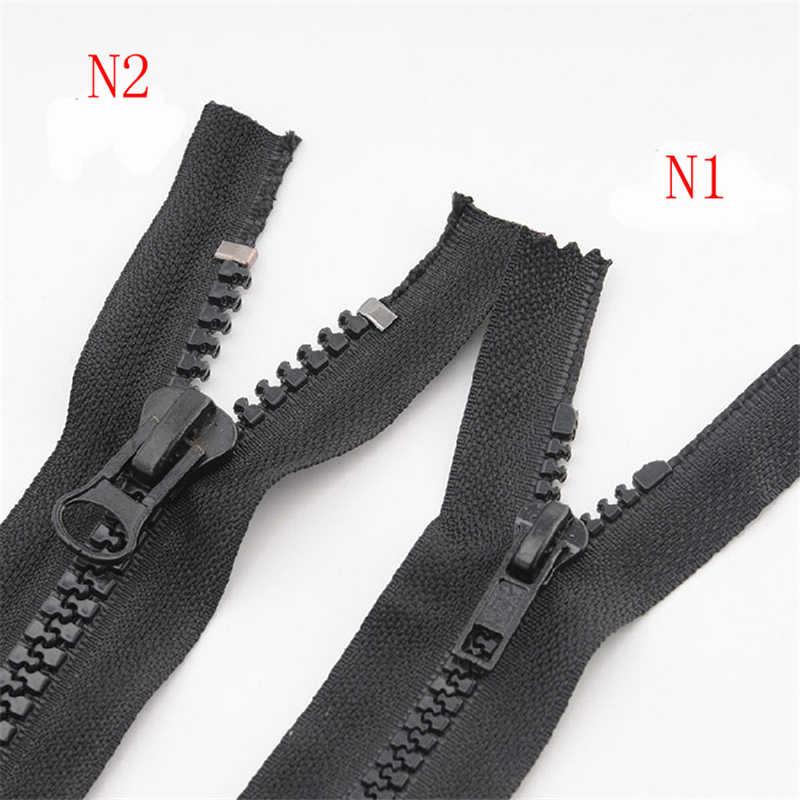 רוכסנים לתפירה DIY חומרים מס 5 ו 8 שרף גס שיניים סגור שחור רוכסן למטה בגדי כיס רוכסן עבור בגד IQ007