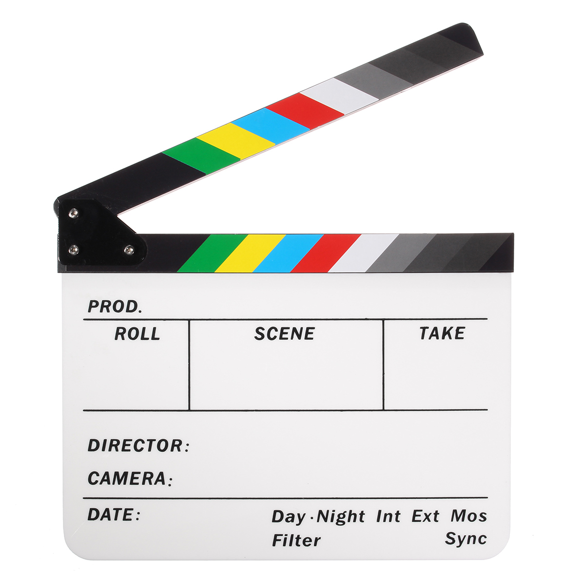 Professional Colorful Clapperboard Clapper Board Acrylic Dry Erase Director TV Movie Film Action Slate Clap Handmade Cut PropProfessional Colorful Clapperboard Clapper Board Acrylic Dry Erase Director TV Movie Film Action Slate Clap Handmade Cut Prop