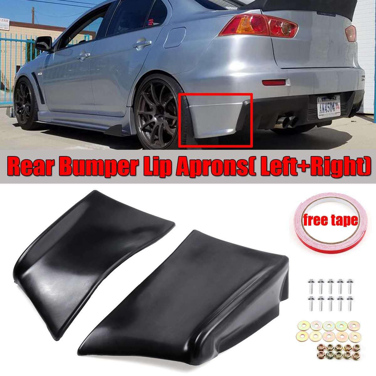 A pair car rear bumper lip spats aprons diffuser splitters protector for mitsubishi lancer evolution x