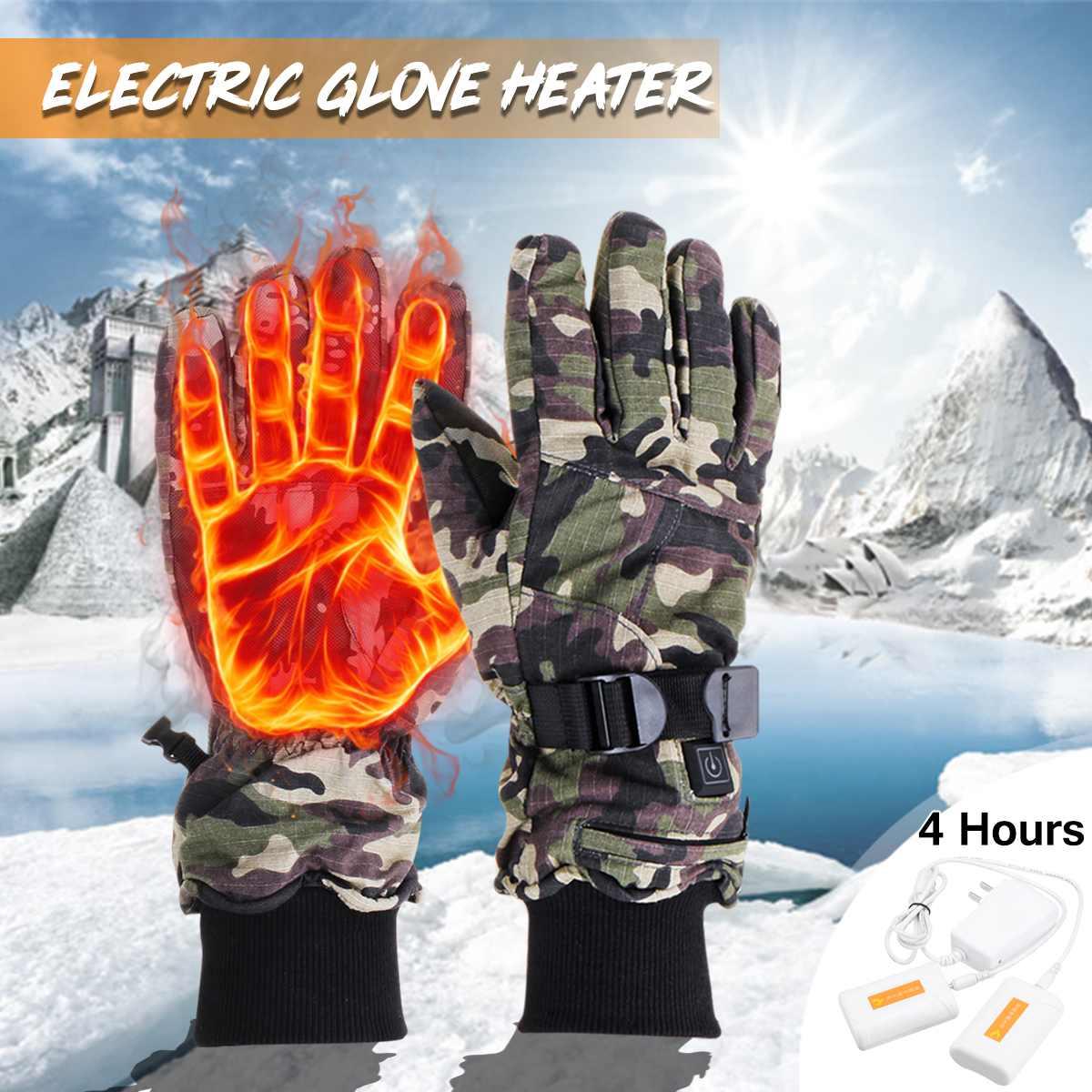1 paire Électrique Chauffée Gants Warmer Électrique Thermique Batterie Au Lithium Chauffage Écran Vélo Moto Vélo Ski Gants