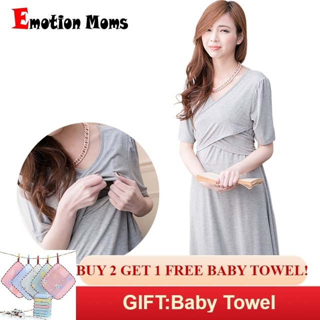41d85f5d26b Emotion Moms Maternity Clothes Fashion Maternity Dresses pregnancy  Breastfeeding clothing for Pregnant Women Nursing Dress