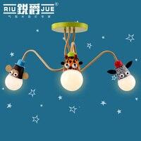 Детская комната лампа мультфильм мальчик спальня свет девушка комната светодиодный потолочный светильник