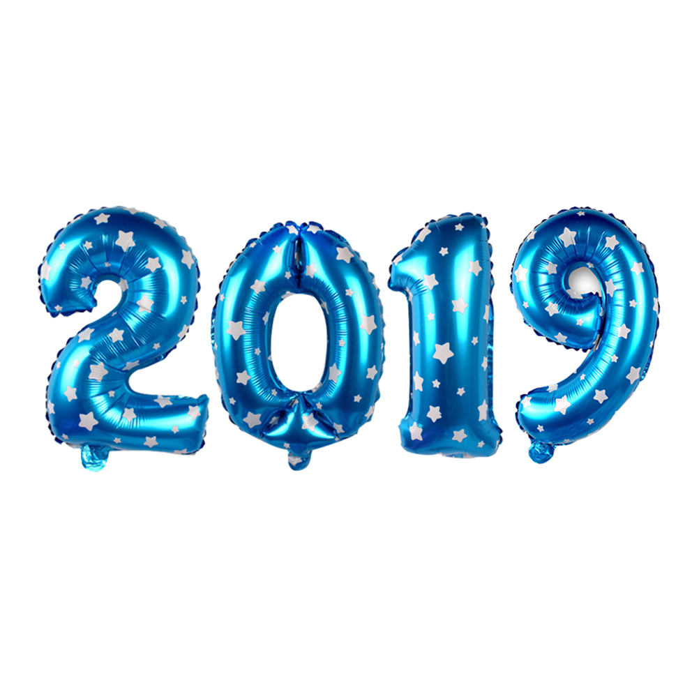 40 Inch 2019 Jumbo Foil Balloons New Year Party New Years