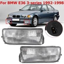 ПТФ в передний бампер для Bmw E36 1992 1993 1994 1995-1998 H1 базы без лампы автомобиля-детектор фары фонарь с линзой автомобиль-Стайлинг