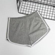 2019 Women Cotton Elastic Waist Short Pant Lady Summer Sleep Pants Shorts Solid Color All-match Loos Femme Pajama