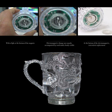 LED Flash Magic Color Changing Dragon Cup Water Activated Light-Up Beer Coffee Milk Tea Wine Whisky Bar Mug travel Creative Gift