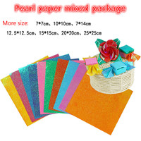 More size 80G a4 Color Paper stickers DIY Card Paper Crane Paper Folding shining papel scrapbook romantic for lovers gift