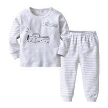 VTOM Baby Boys Sets Long-sleeved  Tops + Pants 2PCS Kids Home Underwear Suit Childrens Clothing XN76