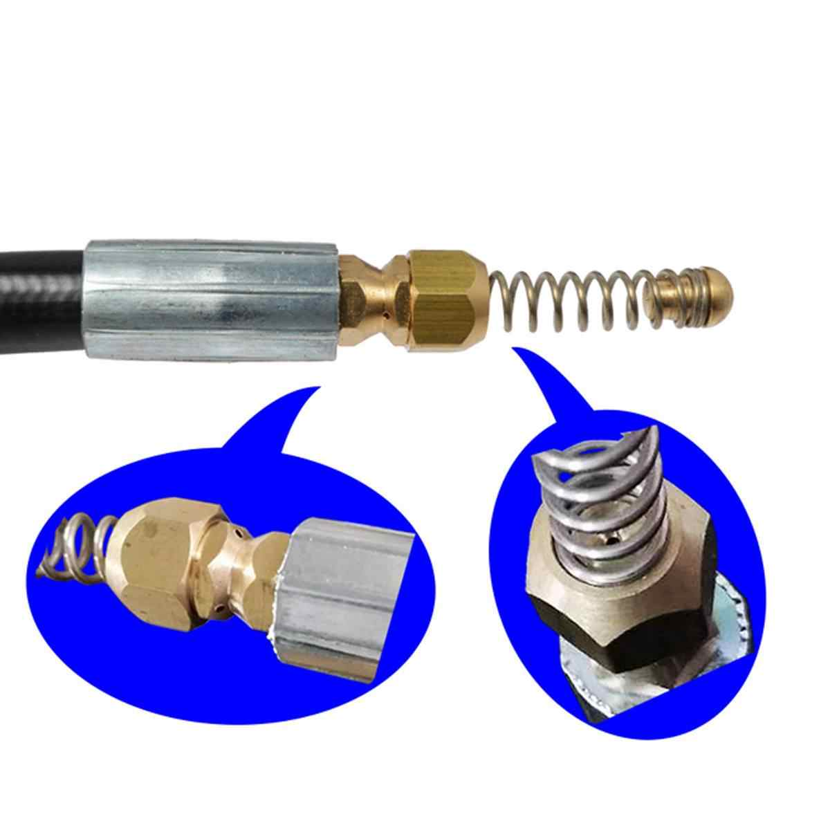 10M Pressure Washer Sewer Drain Cleaning Hose 1/4 Inch Quick Release Drain Sewer Cleaning Hose for Karcher K2-K7 Water Guns