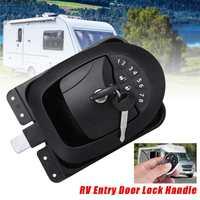 Car RV Keyless Entry Wireless Electric Trailer Caravan Boat Door Lock Latch Handle Zinc Alloy+Plastic Waterproof With two keys