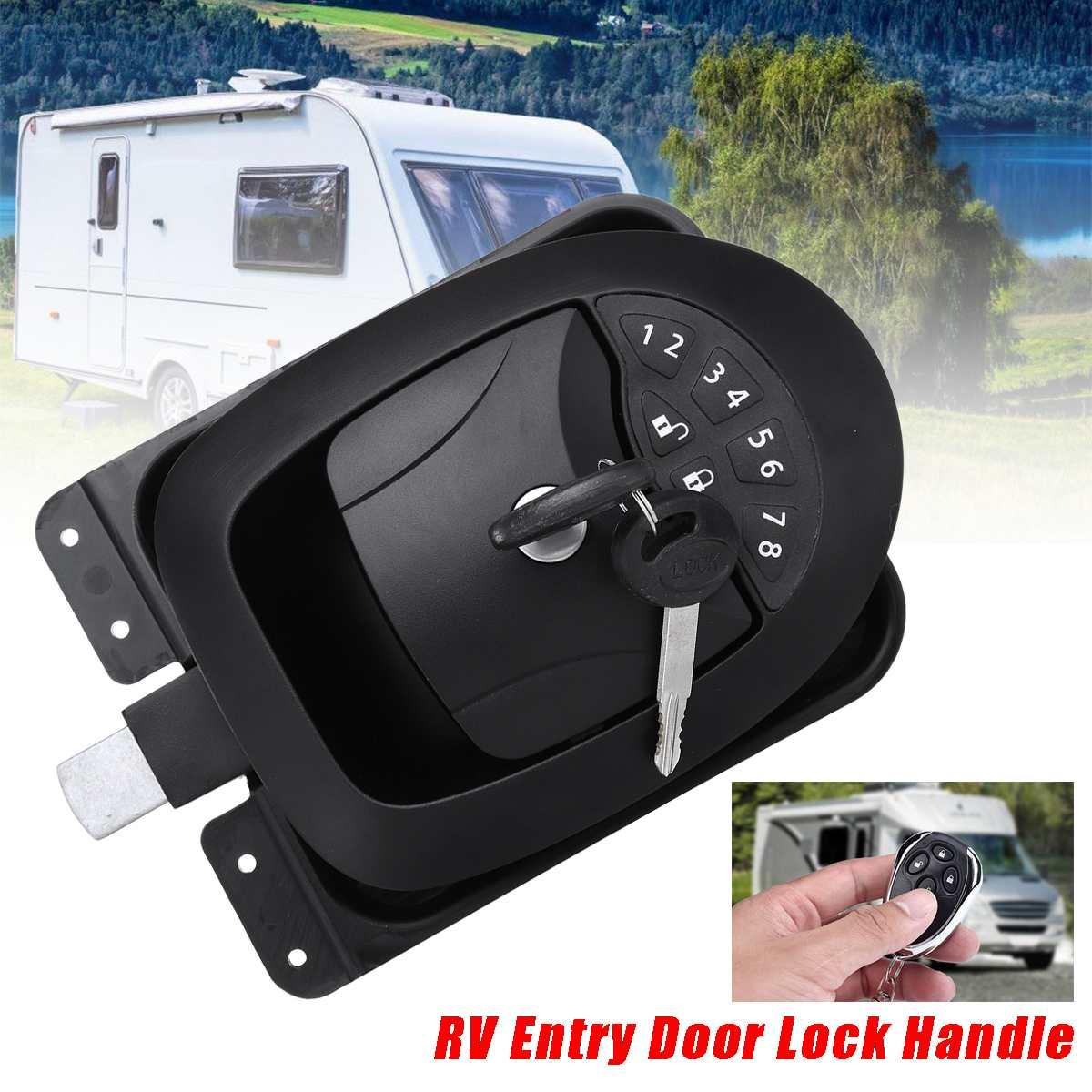 Voiture RV sans clé entrée sans fil remorque électrique caravane bateau porte serrure poignée en alliage de Zinc + plastique étanche avec deux clés